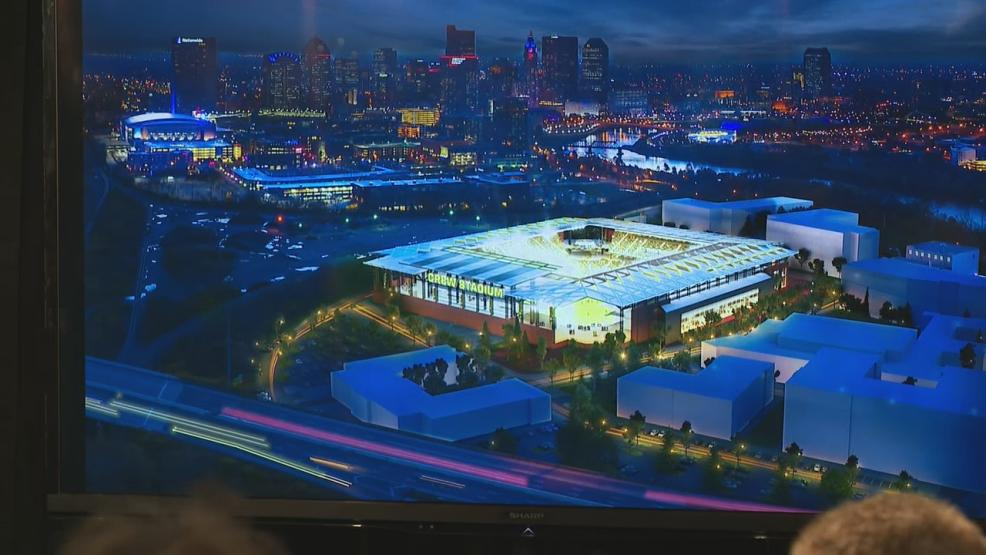 The city and investors revealed a plan to put a new stadium in the Arena District for the Columbus Crew SC (WSYX/WTTE)