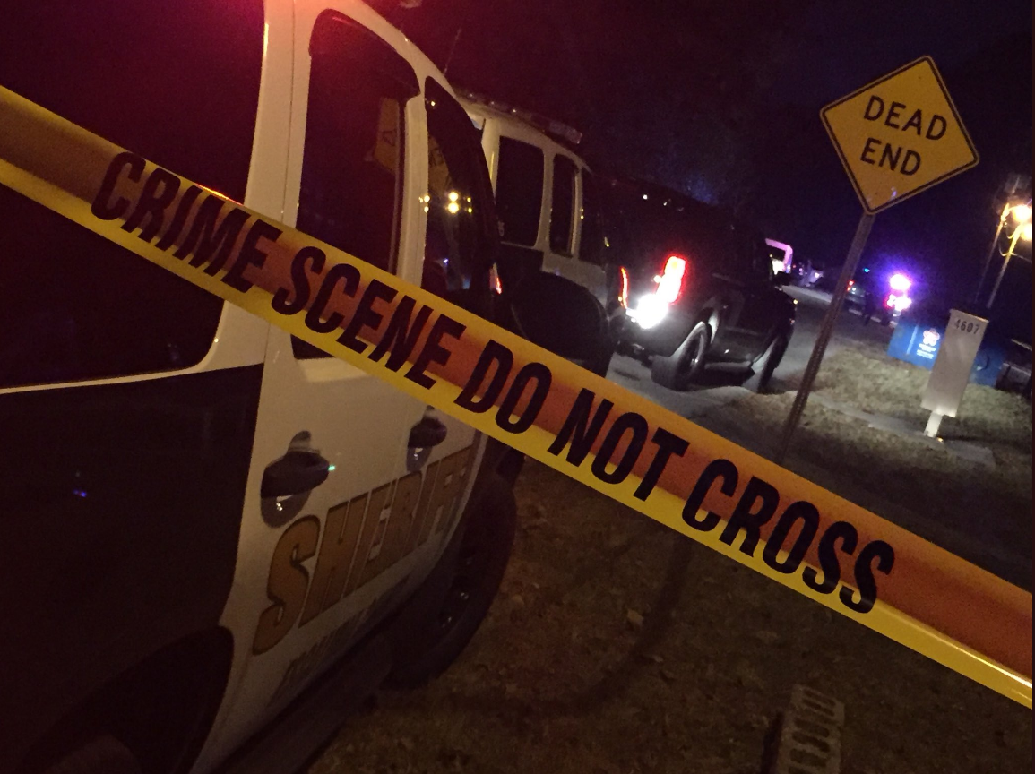 <p>Photo: Homicide investigation in Myrtle Grove</p><p>Photo source: Channel 3's Max Nadsady</p>