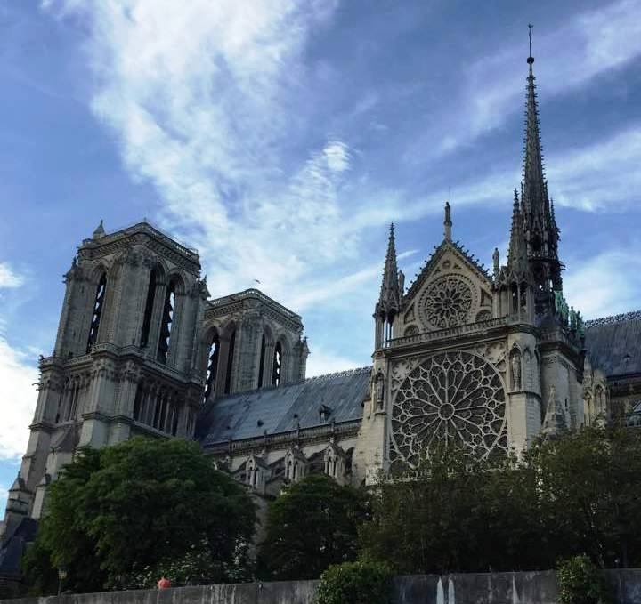 """May 2017"" Locals shared their memories and photos of the historic Notre Dame on April 15, 2019 after hearing the gothic Parisian cathedral suffered serious damage after a fire. (Image - Carolyn Hill Leptich)"
