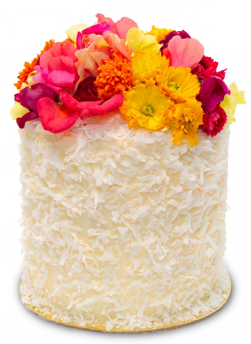 Triple Coconut Flower Crown Cake{ }(Photo: Trophy Cupcakes)