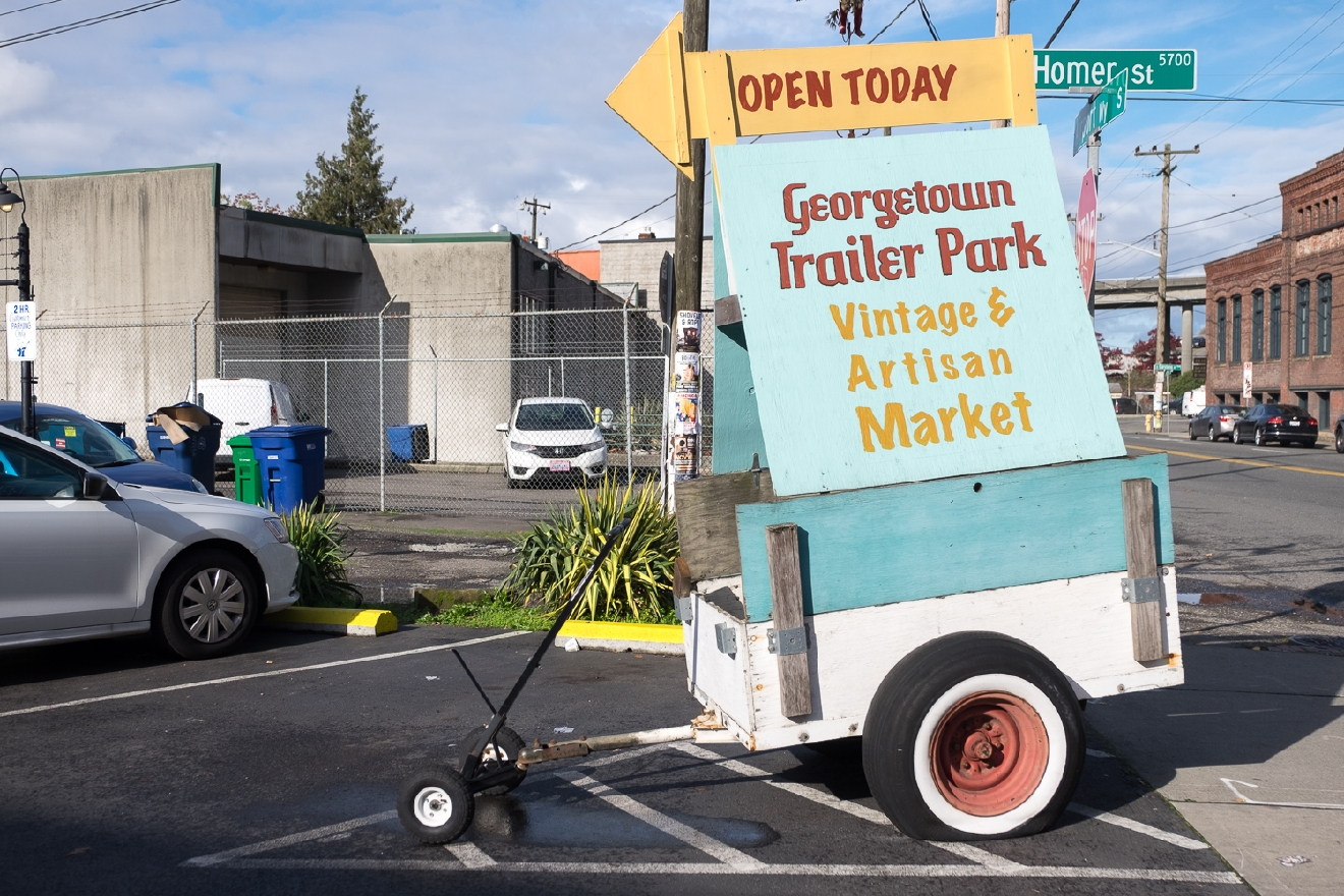 Georgetown Trailer Park Mall (Image: Paola Thomas / Seattle Refined)
