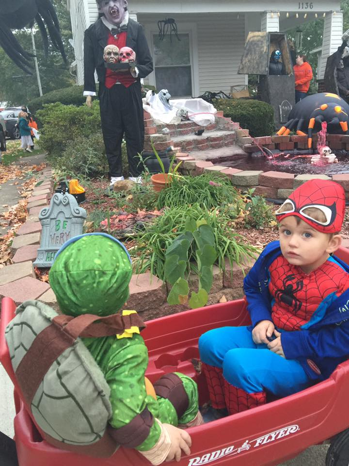Raphael and Spider-man. Submitted by Angie Smith