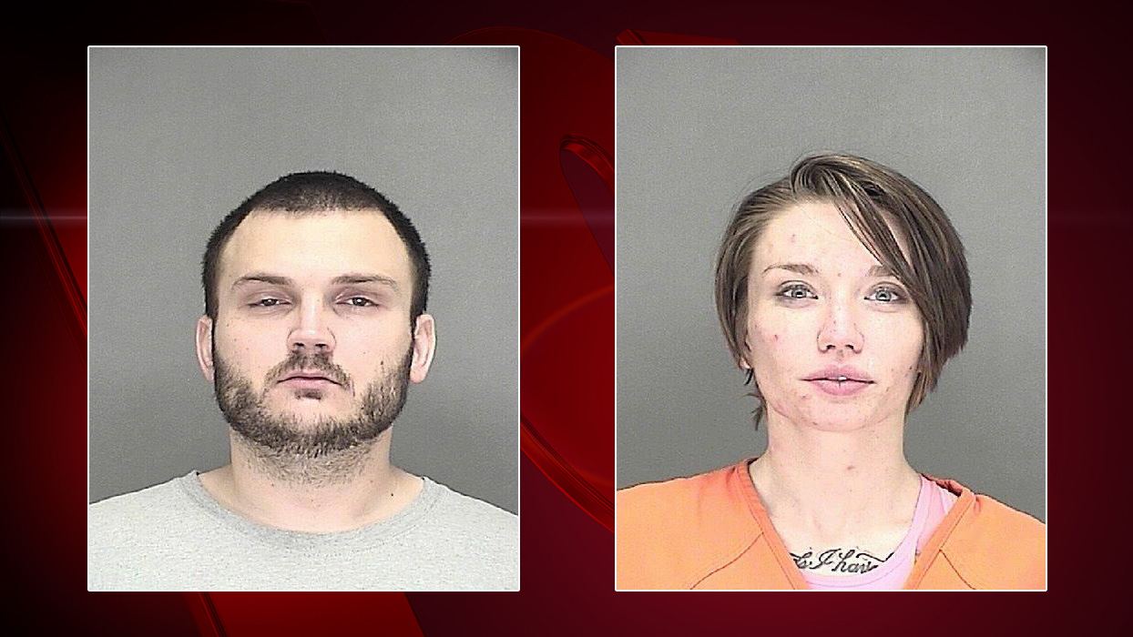 Shawn Gray, left, and Cassie Nygren (Photos source: Brown Co. Jail)