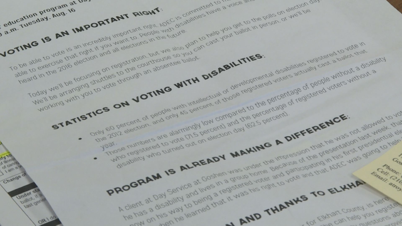 Elkhart County educating members of ADEC on their voting rights. // WSBT 22
