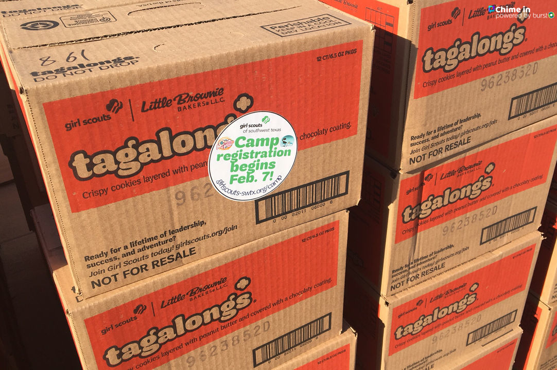 Millions of boxes of Girl Scout cookies arrived Wednesday in San Antonio, including the new Lemon-Up cookies. (SBG San Antonio)