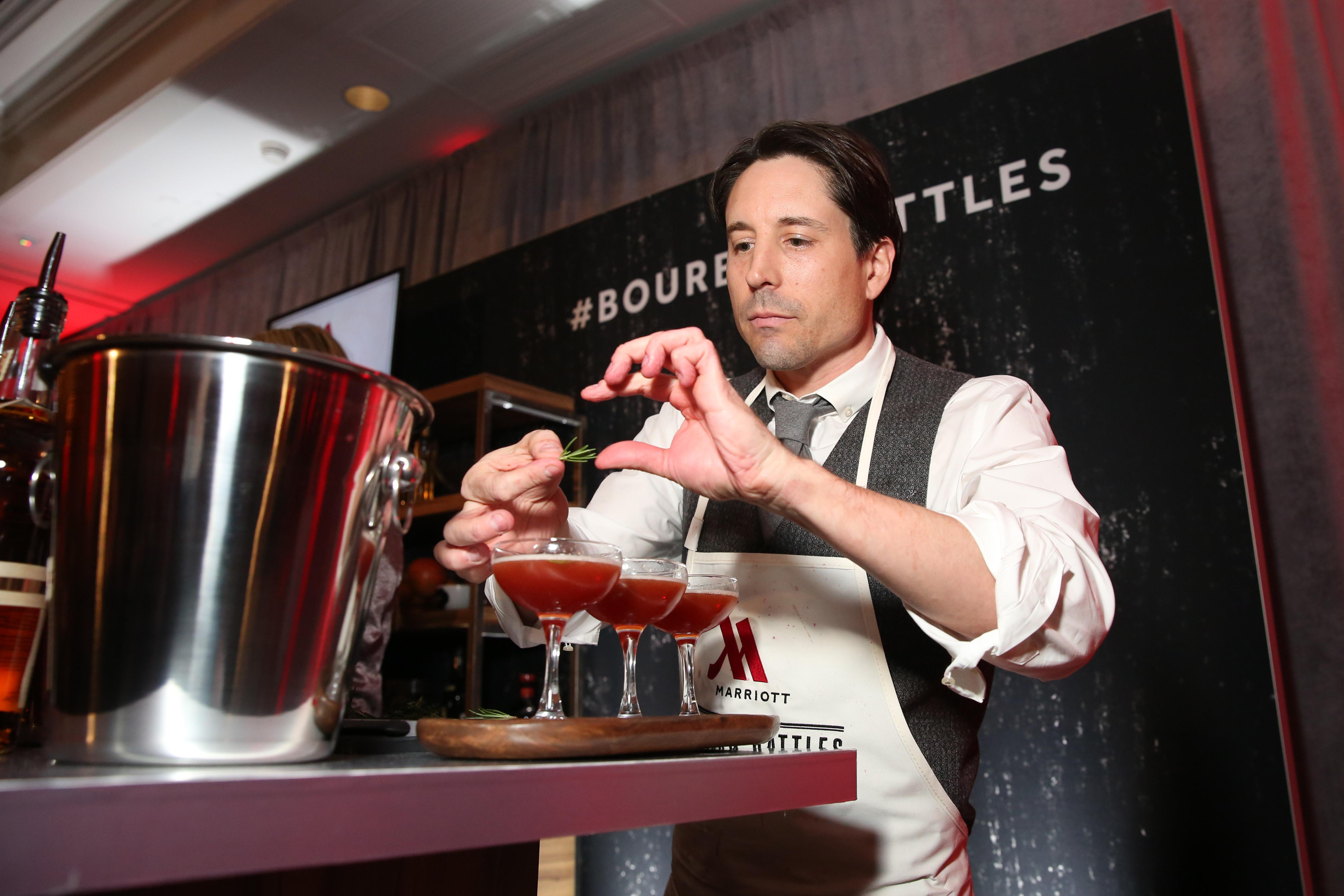 The booze was flowing at The Washington Marriott Georgetown on March 29 as journalists and bartenders battled to make the best cocktails. Jeff DuFour of the National Journal came ahead of his fellow media members and his drink will remain on the Marriott's menu for 6 months - all proceeds will benefit charity. (Amanda Andrade-Rhoades/DC Refined)