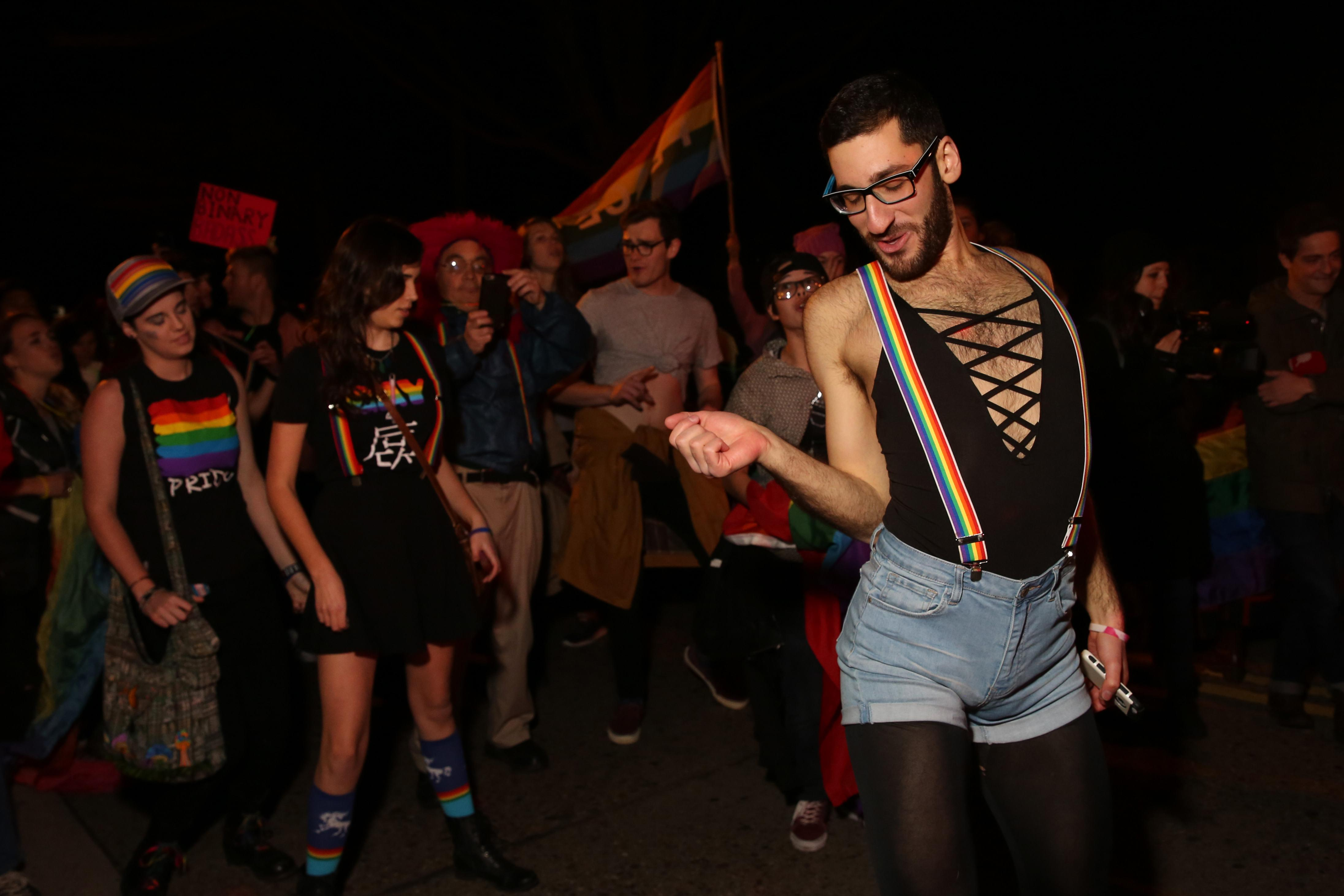 Queer dance party at Mike Pence's house, January 2016. (Amanda Andrade-Rhoades/DC Refined)