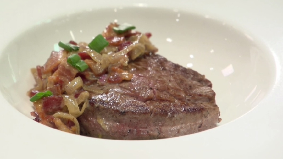 Filet Mignon With Bacon Cream Sauce Recipe — Dishmaps