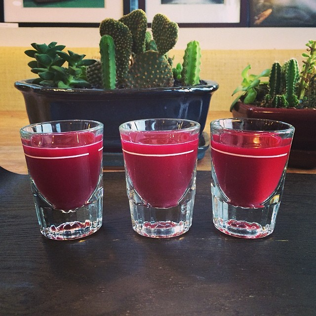 Get a healthier buzz with shots of juice from Healeo. (Image: Robert Mahdavi)