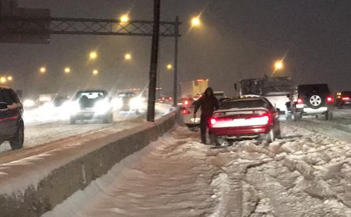 Disabled vehicles on highways caused several traffic issues around Columbus on Wednesday morning February 7, 2018. (WSYX/WTTE)<p></p>