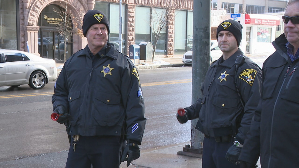 Monroe County Sheriff's deputies bundle up, ring bells for