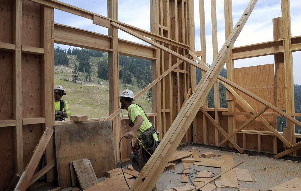 Mt Ashland lodge reconstruction, a walk through with Mt Ashland General Manager Hiram Towle, 8-4-17. - Andy Atkinson