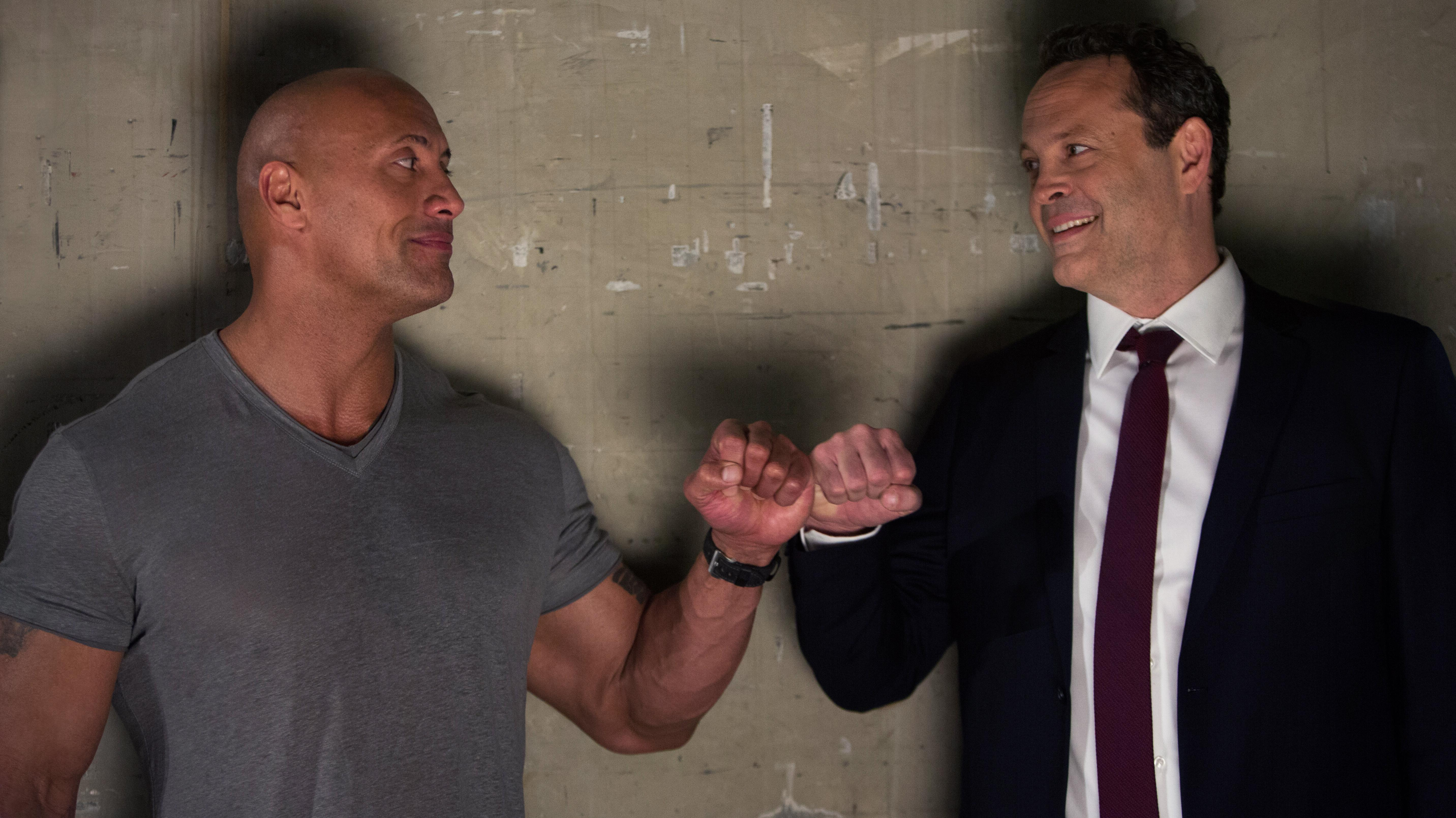 Dwayne Johnson (left) as Himself and Vince Vaughn (right) as Hutch in FIGHTING WITH MY FAMILY, directed by Stephen Merchant, a Metro Goldwyn Mayer Pictures film.Credit: Robert Viglasky / Metro Goldwyn Mayer Pictures© 2018 Metro-Goldwyn-Mayer Pictures Inc.{ } All Rights Reserved.