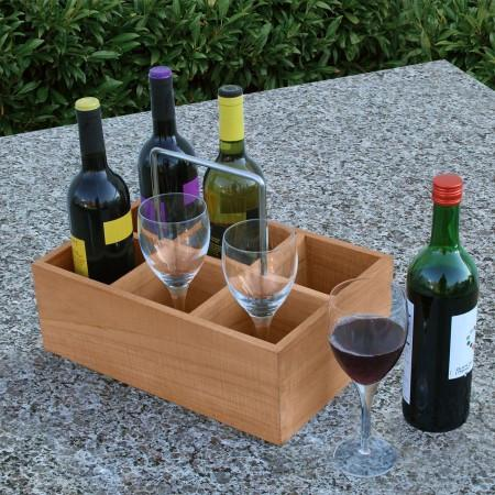 Large Wine Caddy from Country Casual Teak // Price: $105 // Buy online or in store // www.countrycasualteak.com // (Image: Country Casual Teak)