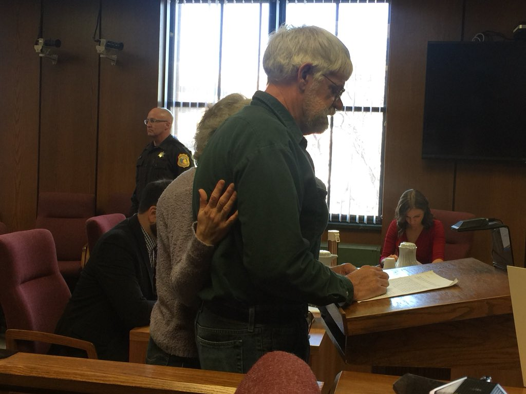 Gregory Boer prepares to speak to the court during the sentencing hearing for his daughter-in-law, Janel Boer, who pleaded guilty to shooting and killing her husband on Valentine's Day. (WWMT/Jessica Wheeler)<p></p>