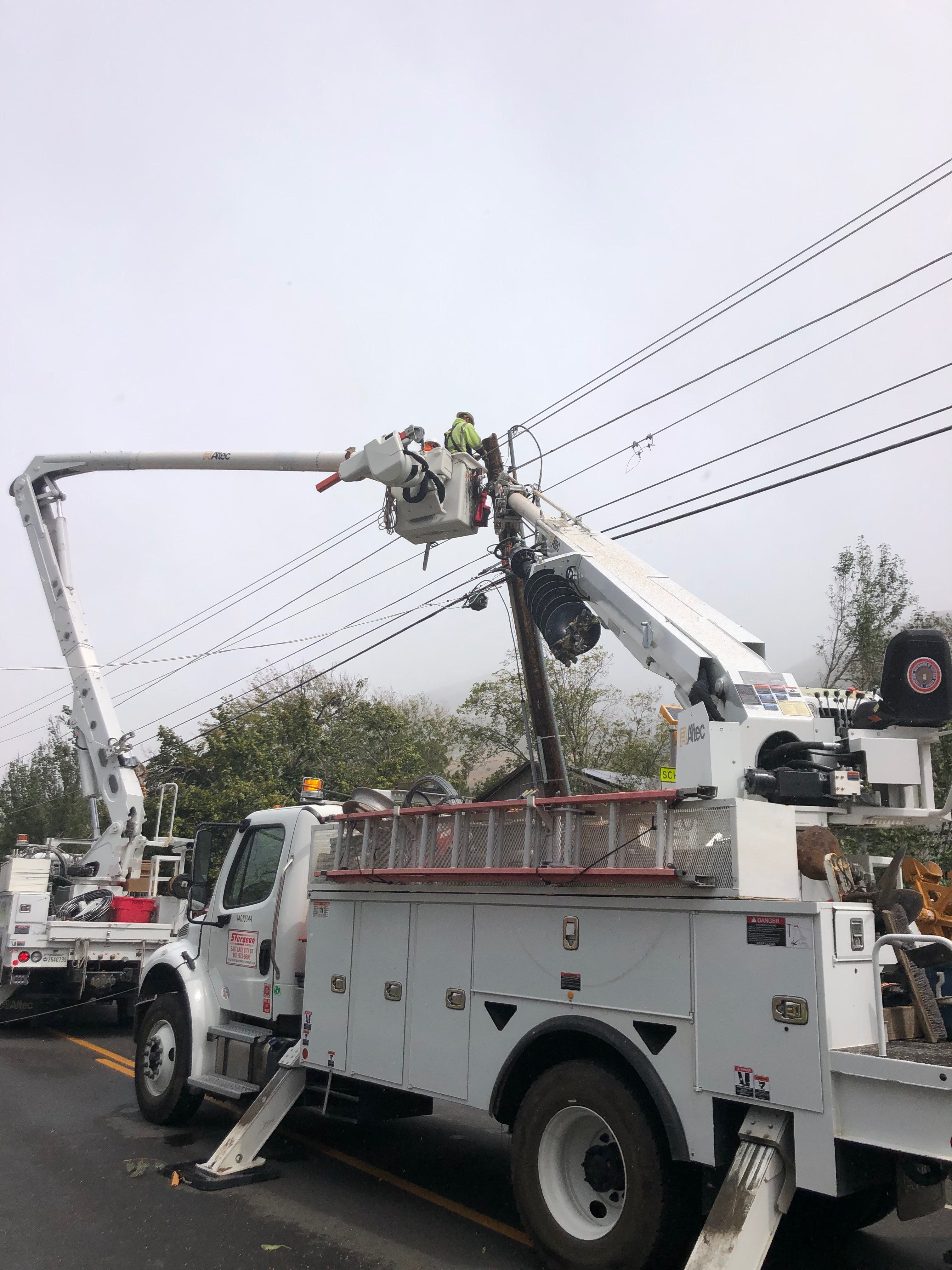 Efforts to restore power to the remaining 40,000 Utahns who lost electricity during a historic windstorm on Tuesday will continue through the weekend. (Photo: Rocky Mountain Power)<p></p>