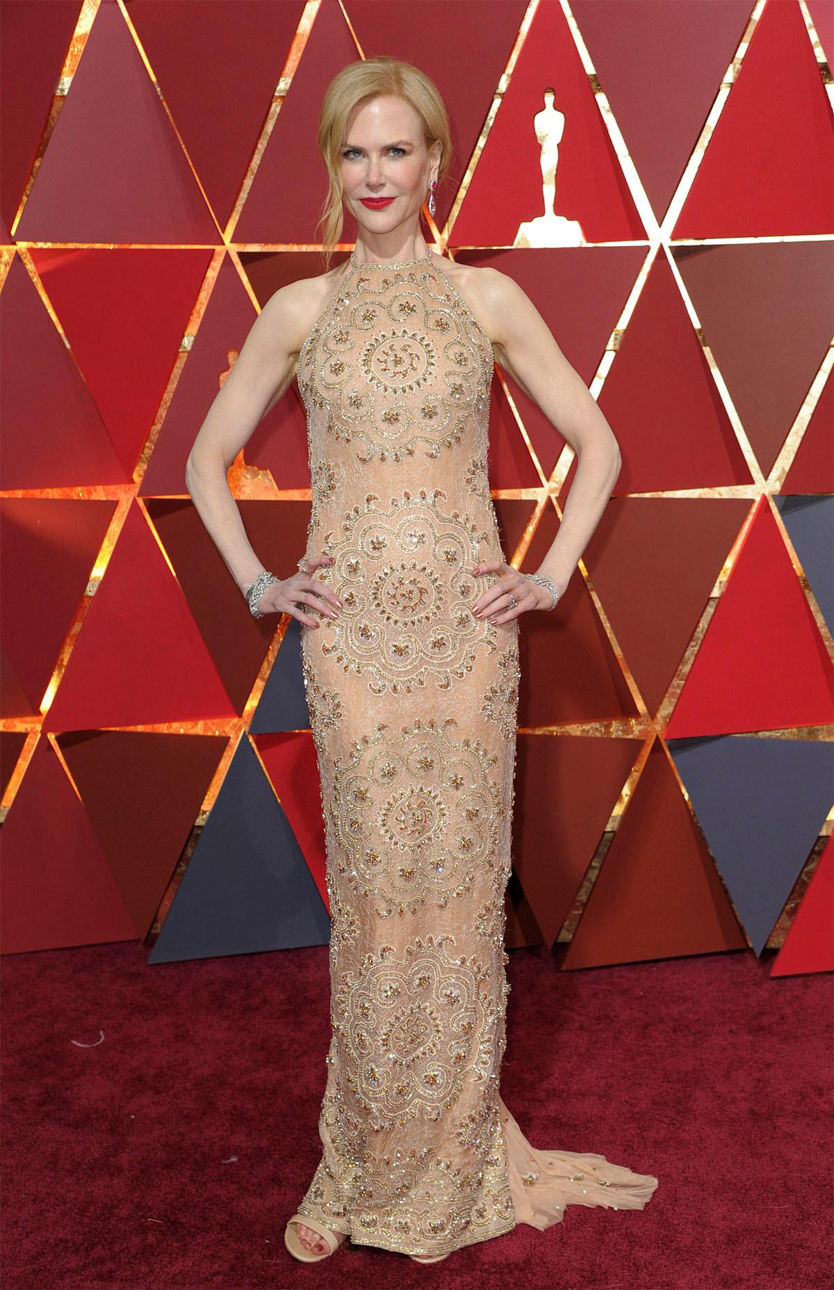 Nicole Kidman arrives at the Oscars on Sunday, Feb. 26, 2017, at the Dolby Theatre in Los Angeles. (Photo by Richard Shotwell/Invision/AP)
