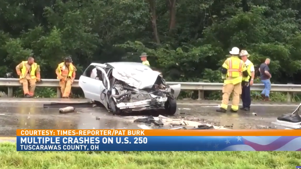 Thursday afternoon crash closes portion of U S  250 near New