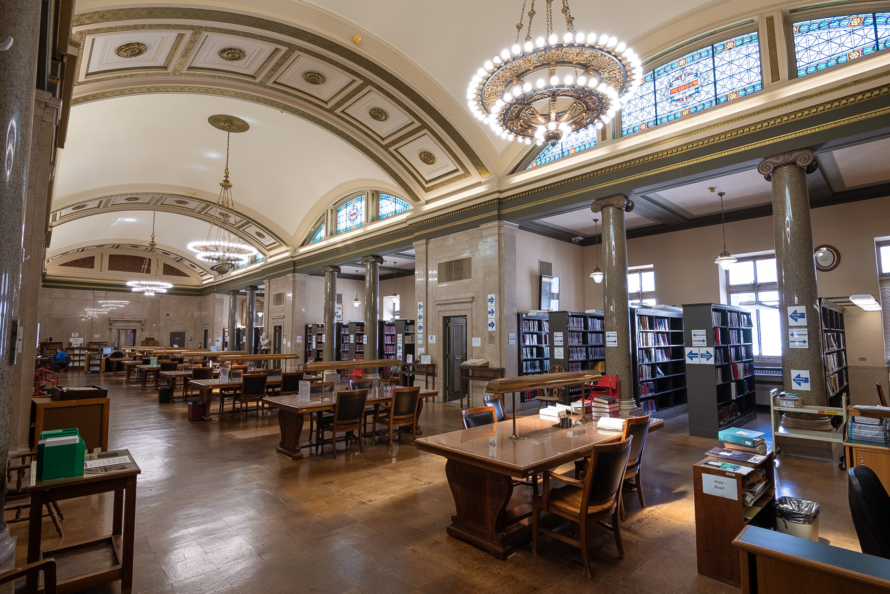 The Hamilton County Courthouse's beautiful Law Library on the 7th floor of the building / Image: Phil Armstrong