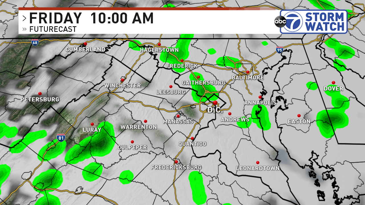 Futurecast Friday morning 10AM