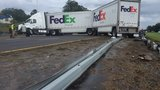 UPDATE: Traffic moving again on I-75 after tractor-trailer crash, fuel leak cleared