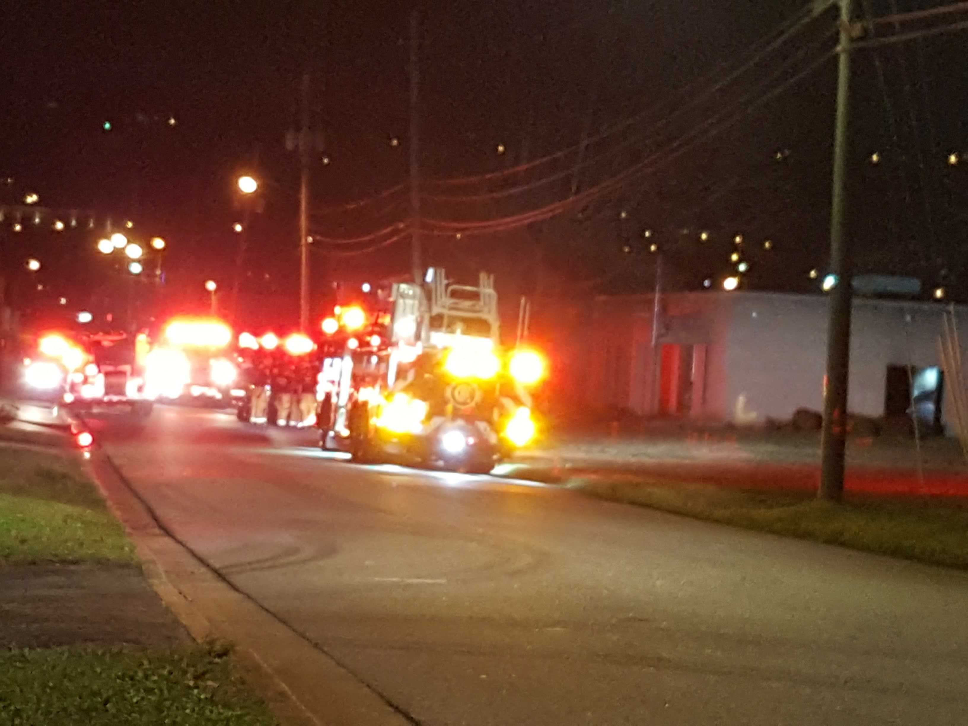 The Chattanooga Fire Department (CFD) quickly put out a fire at a local Christian radio station Tuesday night. (Image courtesy Chief Michael W. Crites, Tennessee Protective Services)