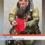 Firefighter comforts child as home burns down