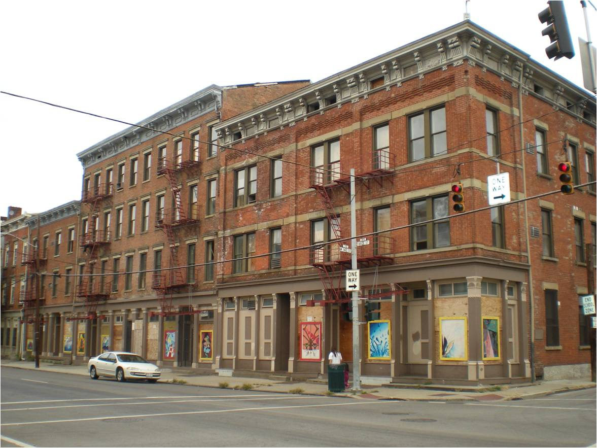 SAENGERHALLE (Before) / ADDRESS: 1400-1416 Race Street (45202) / CREDIT: $1,091,753 / PREVIOUSLY: Saengerhalle / Images courtesy of the Ohio Department of Taxation, CC by 2.0, with changes