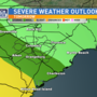 Midlands severe storms possible Monday, Tuesday