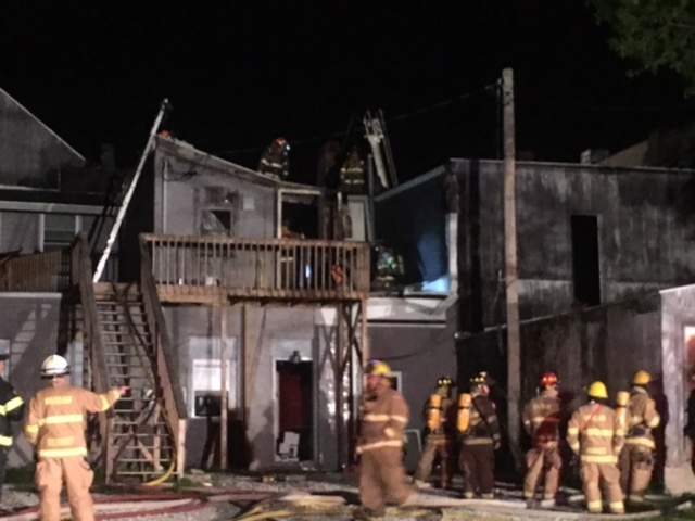 Firefighters respond to major fire in Warsaw