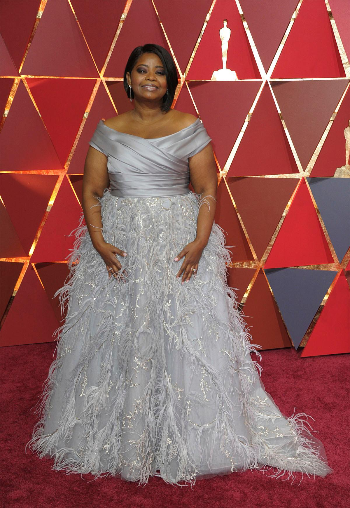 Octavia Spencer arrives at the Oscars on Sunday, Feb. 26, 2017, at the Dolby Theatre in Los Angeles. (Photo by Richard Shotwell/Invision/AP)