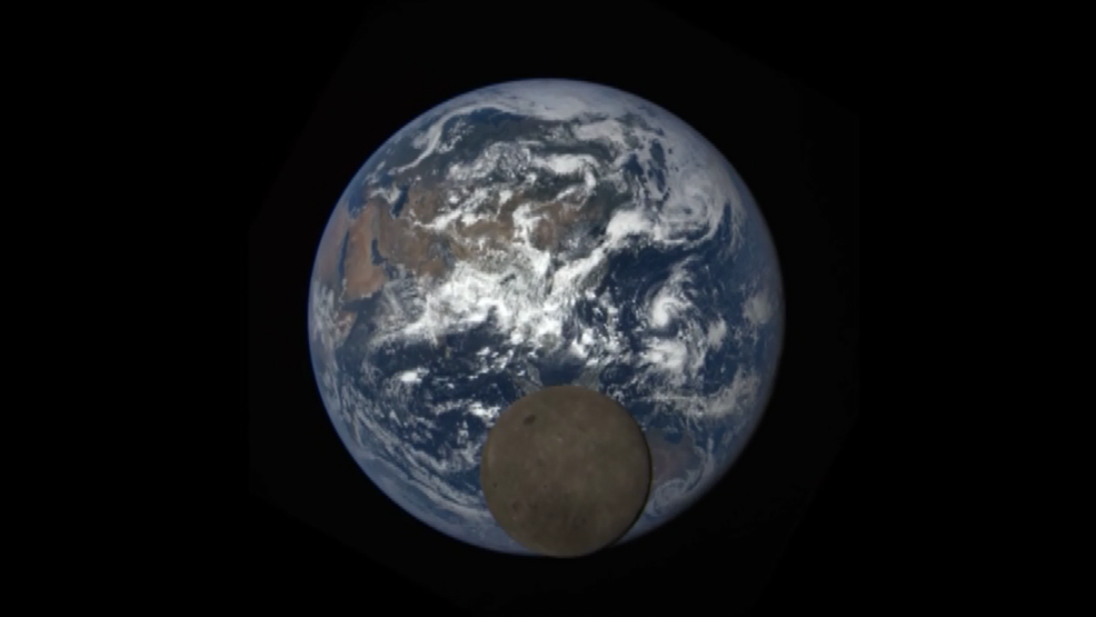 NASA catches the Moon photobombing the Earth   WJLA
