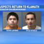 Men accused of killing a Chiloquin man return