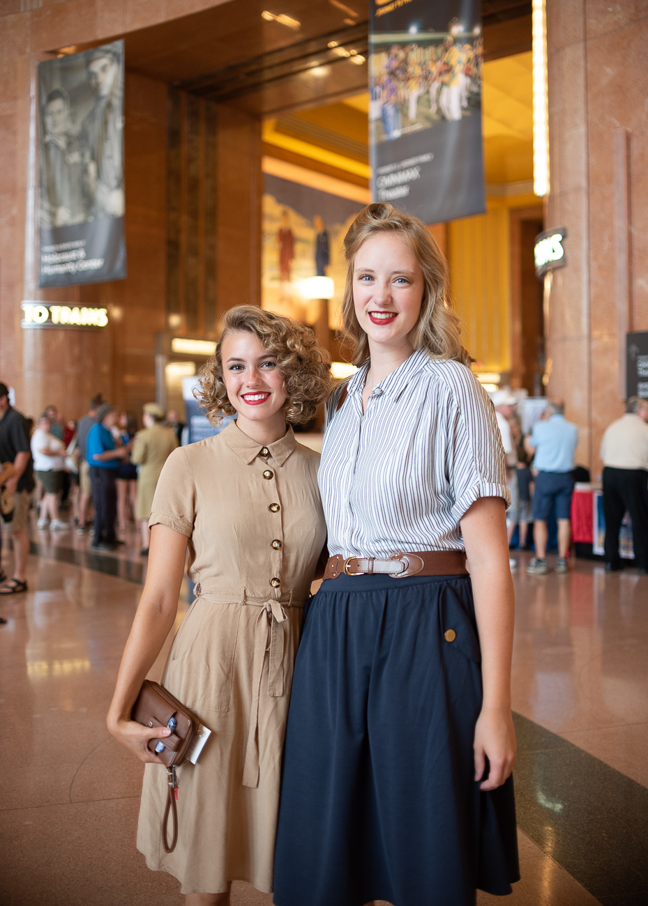 The Cincinnati Museum Center hosted its 1940s Day on Saturday, August 10. The event, which was held at Lunken Airport for the last several years, returned to the freshly restored Union Terminal for 2019. Attendees enjoyed lighthearted live jazz, big band music, vintage cars, a WWII-era plane fly-over, and period fashion to celebrate the pivotal decade that reshaped the world. The event also featured a speaker who survived the Holocaust as well as a lecture about Japanese-American internment during WWII. / Image: Phil Armstrong, Cincinnati Refined // Published: 8.29.19