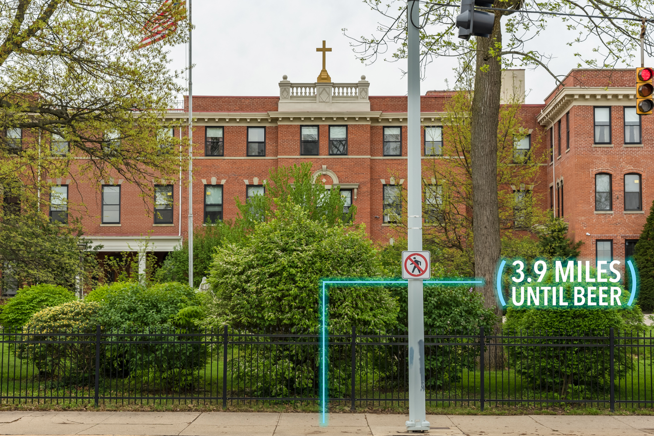 Continue on E. McMillan Street. You'll pass Saint Ursula Academy on the right. / Image: Phil Armstrong, Cincinnati Refined // Published: 4.25.17