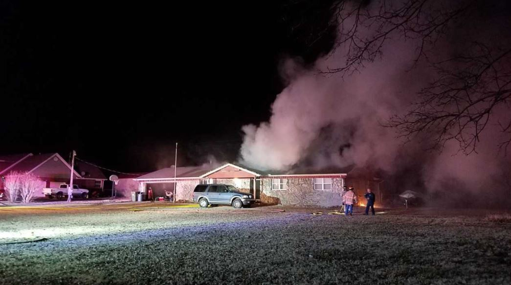 Crews responded around 1 a.m. and found flames shooting from the attic of the home. Firefighters say the smell of smoke woke the man up, and he saw fire climbing the wall behind his TV. (KTUL)