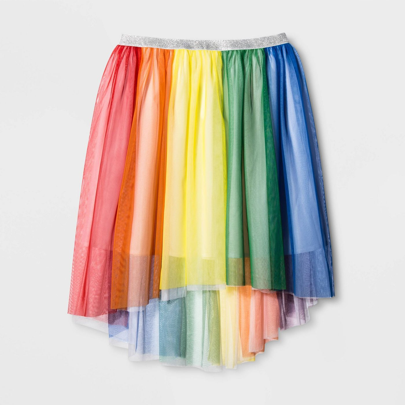 Target for the win.{ } Cute and affordable goodies for Pride.{ } Starting with this Pride Adult Gender Inclusive Skirt for only $18.{ } Very Rainbow Bright and we are here for it.{ }(Image: Target){ }