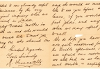 This undated photo provided by Lion Heart Autographs shows a letter by one of the survivors of the sinking of the Titanic written six months after the disaster, which could fetch $4,000 to $6,000. The letter - saved by a fellow passenger who climbed aboard the so-called ?Money Boat? before the ocean liner went down - will be sold by Lion Heart Autographs, along with two other previously unknown artifacts from Lifeboat 1 on Sept. 30, 2015. The auction marks the 30th anniversary of the wreckage?s discovery at the bottom of the Atlantic Ocean. (Lion Heart Autographs via AP)