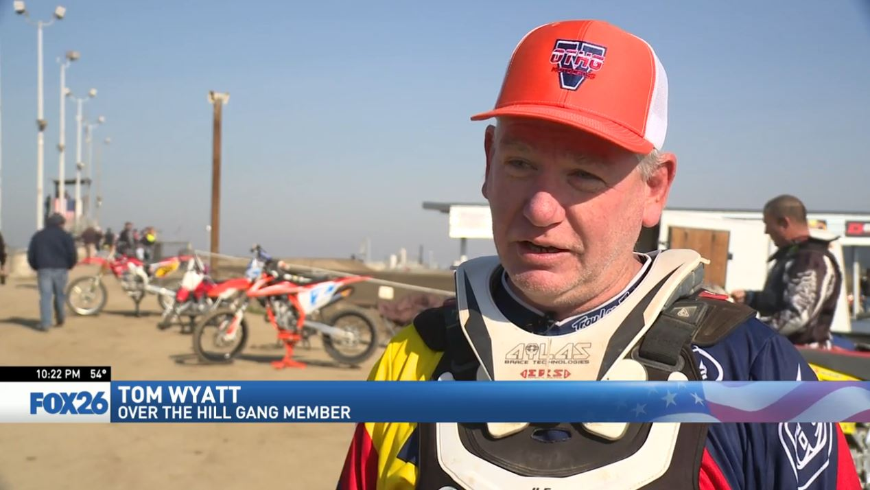 Tom Wyatt is also a member of the Over The Hill Gang of motocross racers (FOX26)