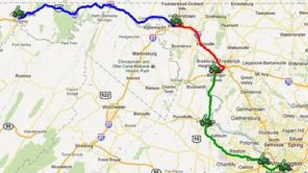 America S 9 11 Ride Map Friday Route Goes From Cumberland