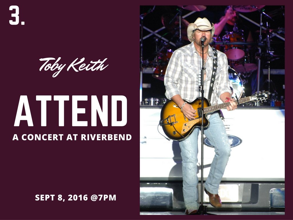 CINCY SUMMER BUCKET LIST ITEM #3: See a concert at Riverbend / UPCOMING CONCERT: Toby Keith on Sept. 8 // IMAGE: Wenn.com