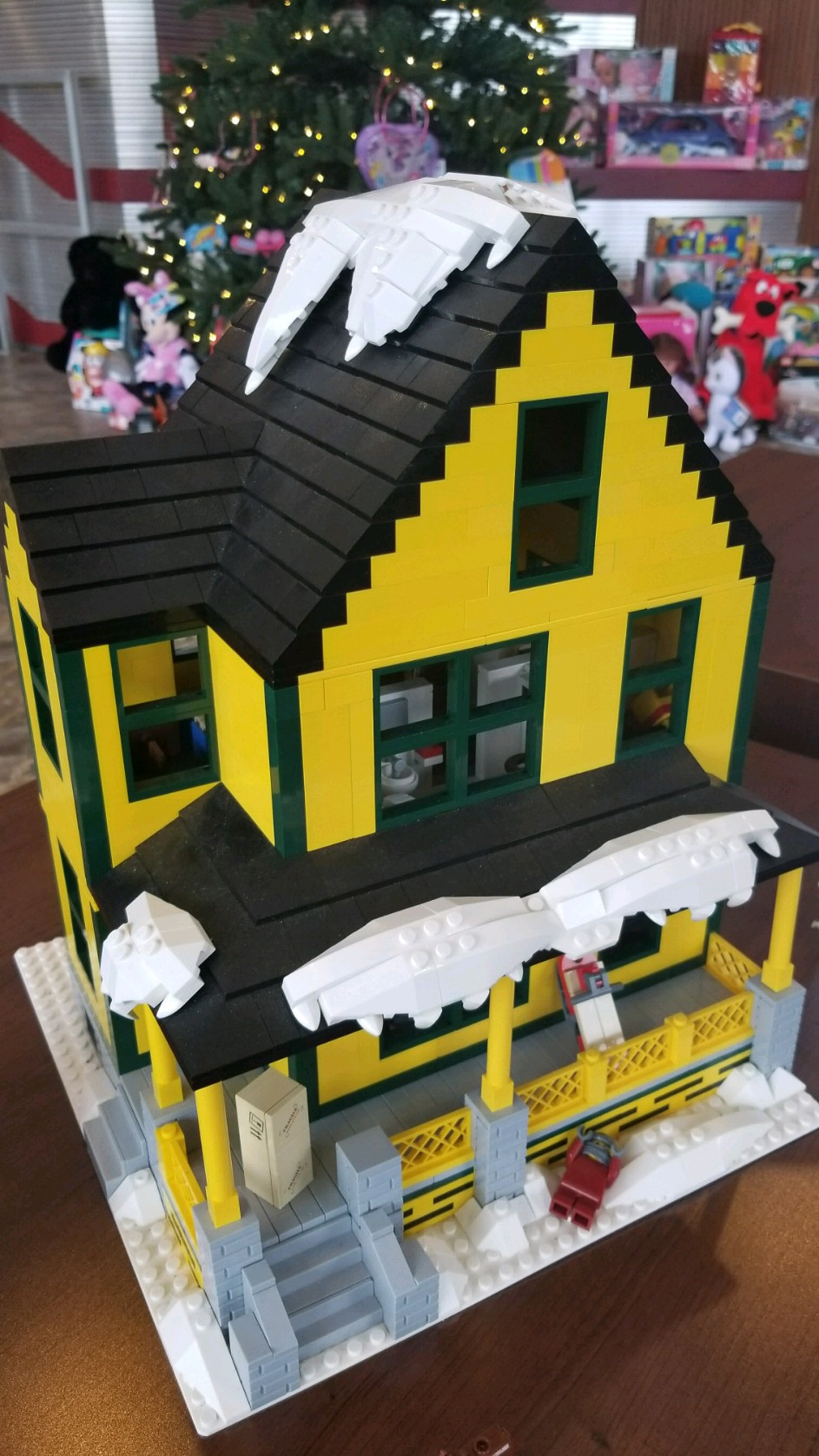 Jason Middaugh says what started as a family project, sparked by his daughter's love of the building blocks, turned into a crazy journey to recreate the house from the popular holiday film.