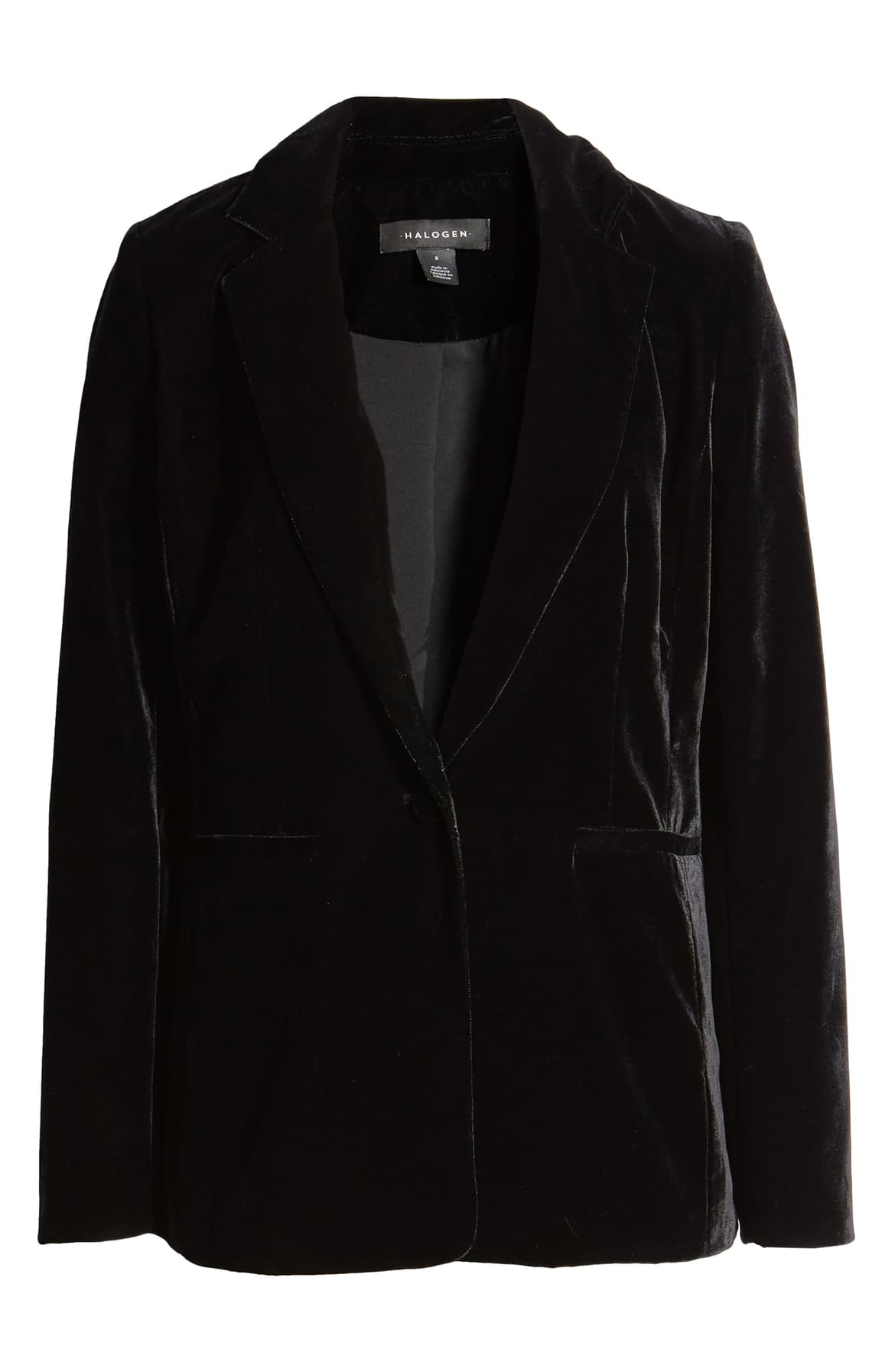 "<a  href=""https://shop.nordstrom.com/s/halogen-velvet-blazer-plus-size/5349342/full?origin=keywordsearch-personalizedsort&breadcrumb=Home%2FAll%20Results&color=black"" target=""_blank"" title=""https://shop.nordstrom.com/s/halogen-velvet-blazer-plus-size/5349342/full?origin=keywordsearch-personalizedsort&breadcrumb=Home%2FAll%20Results&color=black"">Halogen Velvet Blazer - $99</a>. From cozy to gold hued to tailored, Nordstrom has the hottest trends for getting glam this holiday season! (Credit: Nordstrom)"
