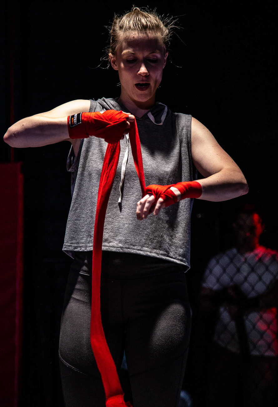 Tess Talbot as Halo / Girl in the Red Corner by Stephen Spotswood plays every Wednesday through Sunday from July 26 to August 17 at Know Theatre in Over-the-Rhine. ADDRESS: 1120 Jackson Street (45202) / Image: Daniel Winters Photography // Published: 7.31.19