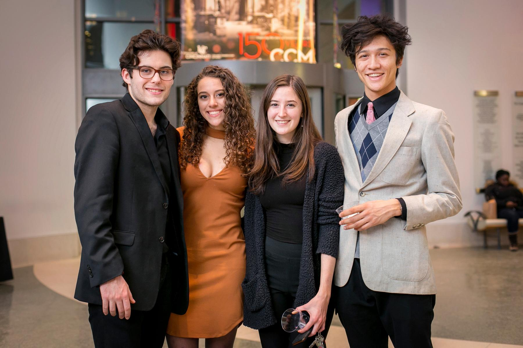 Pictured: Justin Dawson, Sophie Privitera, Shannon Lock, and Jeremy Myint / Event: CCM's A Moveable Feast (1.19.18) / Image: Mike Bresnen Photography // Published: 2.2.18