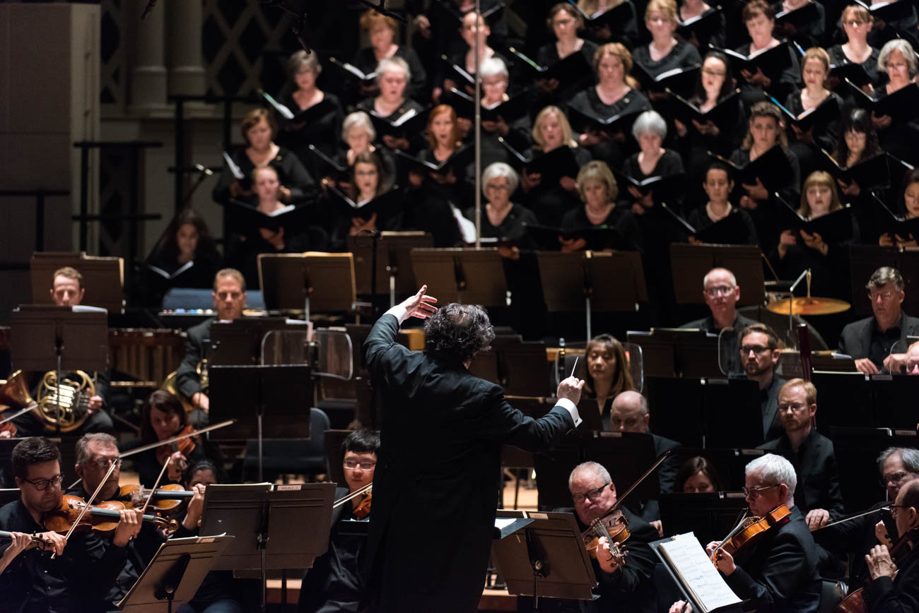 Since its founding in 1873, the May Festival has been revolutionary, beginning in its early years with the American premieres of Bach's Magnificat and Brahm's Triumphlied, and leading into the 2019 festival with the American premiere of Mark Simpson's The Immortal. The May Festival has emerged as one of the most spectacular events to perform and premiere choral music. / Image courtesy of the May Festival // Published: 5.8.19