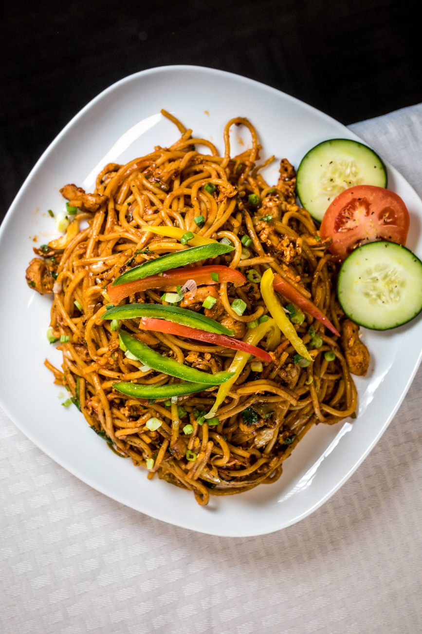 Chicken chow mein with hakka noodles / Image: Catherine Viox{ }// Published: 2.6.20