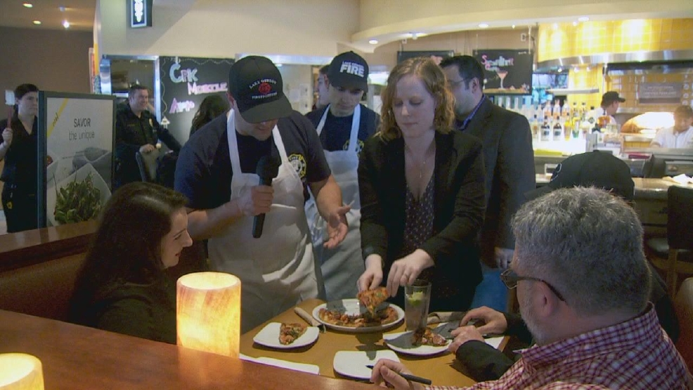 Firefighters, Police Officers Square Off In Cooking-for-a
