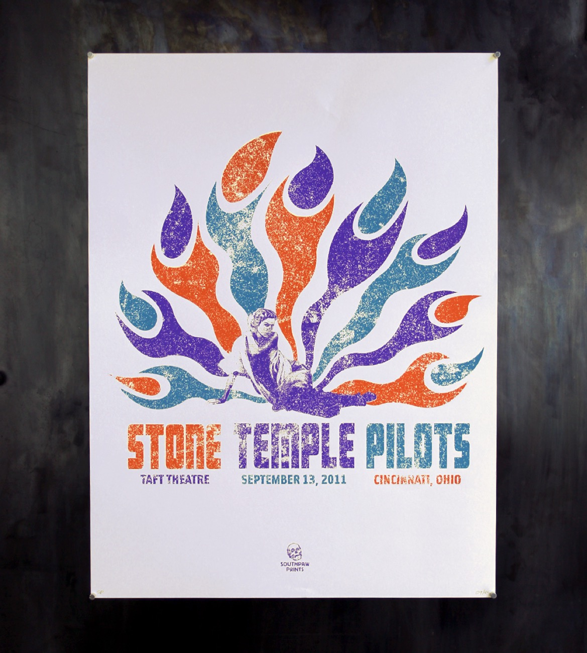 "<p>Stone Temple Pilot poster, 18""x24"" silkscreen 3-color print on 100 lb French paper / Image courtesy of We Have Become Vikings // Published: 7.18.18</p>"
