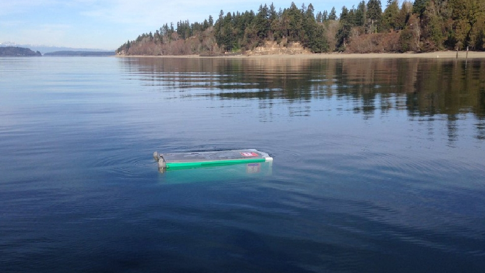 Fishing stunk today porta potty found floating in olympia for How is fishing today